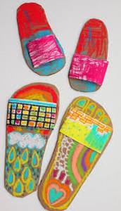 Cardboard Flip Flops: