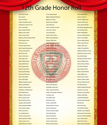 12th Grade Honor Roll Students
