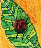 Ladybug Art inspired by Eric Carle - Kindergarten