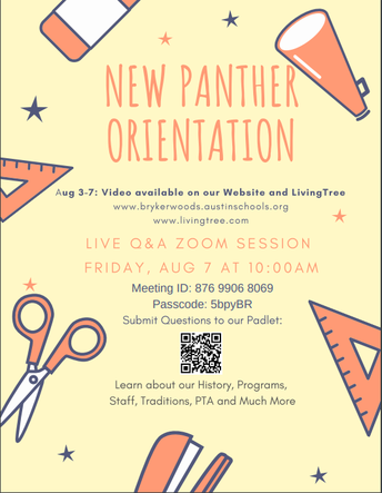 New Panther Orientation
