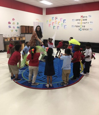 Pre-K learns Music and Movement in Ms. Campos's Class