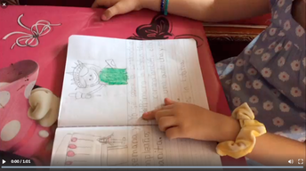 1st grader reading journal. Click this link below