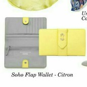 Soho Flap Wallet Citron