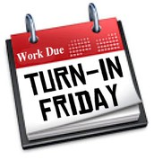 Work Due for Month 9:  Friday, May 19 by 3:00 pm