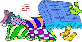 graphic of blankets and socks