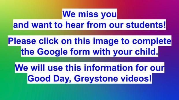 Hello Greystone Google Form Link