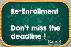 Re-enrollment Happening Now!
