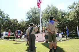 OLM Scouts Lead Flag Raising