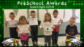 Preschool March/April Awards