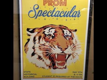 Students, staff, and parent volunteers, prep for and enjoy UHS Prom Spectacular and Post Prom night at the movies!