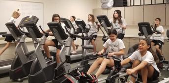 PE class 'Workout Wednesday'