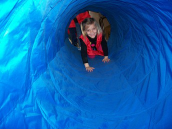 Students love the new tunnel!