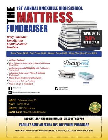 Knoxville Music Booster Mattress Fundraiser