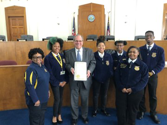 Northeast HS AG Students Obtain Mayoral Proclamation