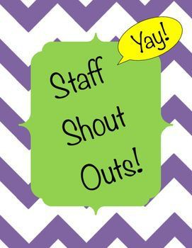 OLSON STAFF SHOUT OUT