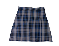 Blue & Grey Plaid Skort