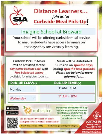 SLA Curbside Meal Pickup and Broward County's Grab N Go