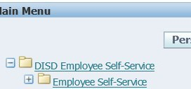 Step 2: Select Employee Self-Service