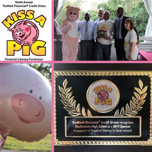 "Drs. Lajara, Hammond ""Kiss a Pig"" for Financial Literacy"