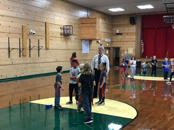 Mr. Goolsby playing fun games in PE with his 3rd graders!