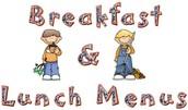 Menús de Comida y Desayuno Escolares