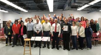 Donna Kinslow's choir celebrating American Music Month