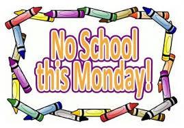 No School Monday, September 3rd