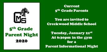 Parent Night Jan 21