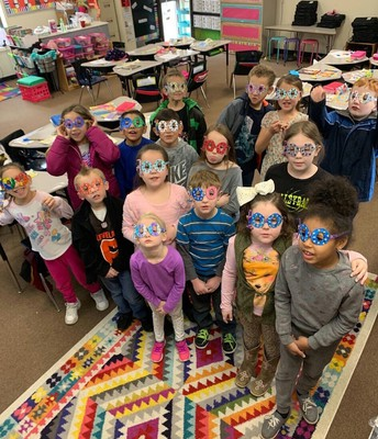 Pawhuska students celebrate the 100th day of school