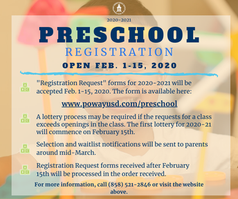 PUSD Preschool Enrollment Open