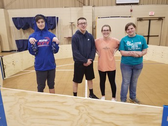 ASP Service Team Building the New GaGa Ball Pit!!!!!