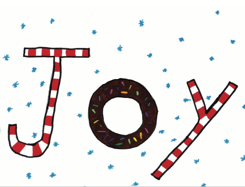 Photo of the Card Design saying Joy