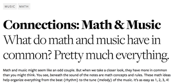 Math and Music from the Kennedy Center