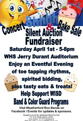 WHS Band Concert, Bake Sale & Silent Auction