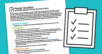 Family Checklist for Administering the i‑Ready Diagnostic