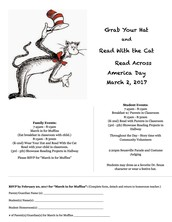 Dr. Seuss/Read Across America Day  - March 2, 2017 - RSVP by Feb. 20, 2017