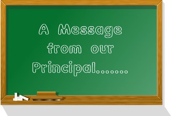 A quick note from the principal
