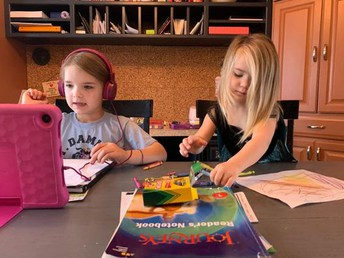 First Graders Teach Siblings How To Study!