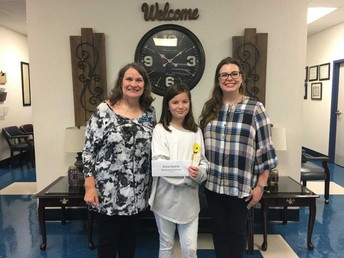 Erica was the National Winner for the DAR Junior American Citizenship Award.