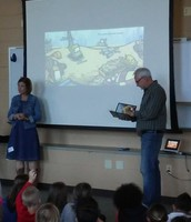 Eric reads their latest book, Bulldozer Helps Out.