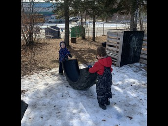 Pathways students enjoying the new addition to our outdoor space!