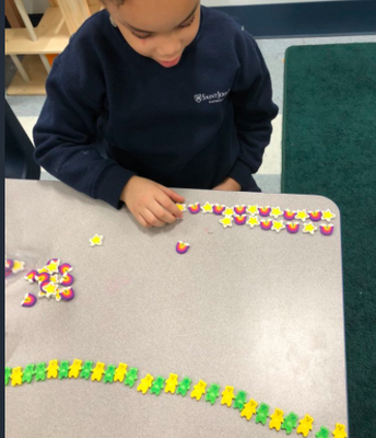 Math Centers in K1B...patterns are everywhere!