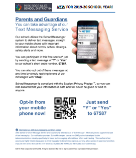 School Messenger SMS Opt-In