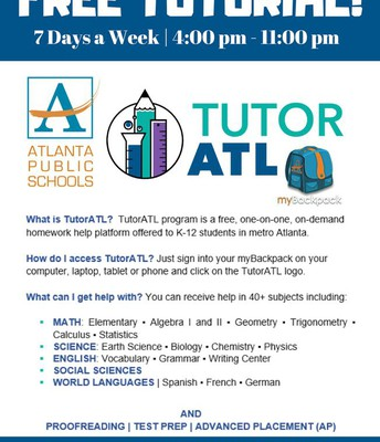 9am - 11pm Tutor ATL