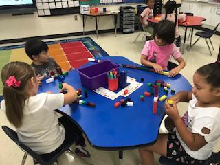 Exploring with Unifix Cubes in kindergarten
