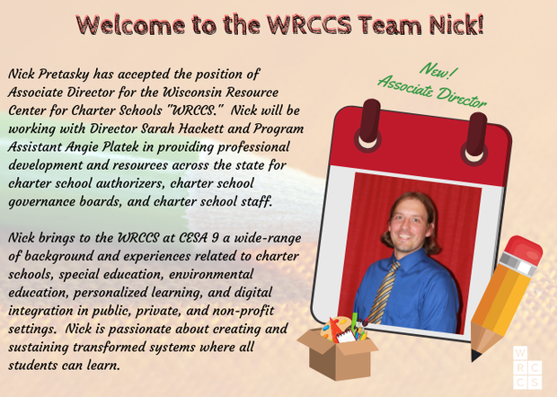 Welcome new Associate Director Nick Pretasky to WRCCS!