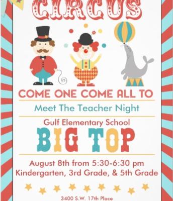 Meet the Teacher  August 8 @ 5:30 pm