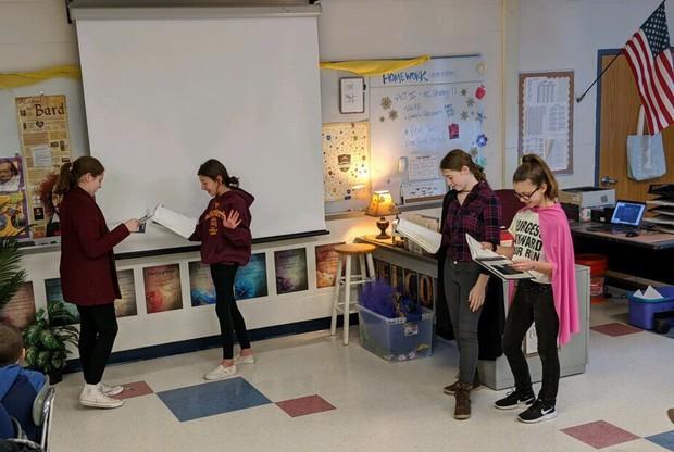 Students reading A Midsummer Night's Dream