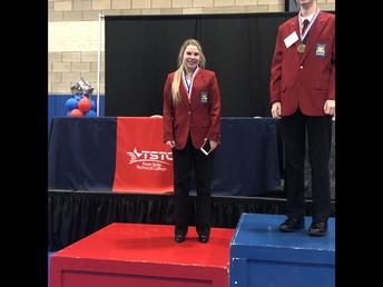 Chloe Davis wins a Silver Medal in Skills Demo