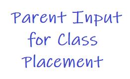 Parent Input for Next Fall